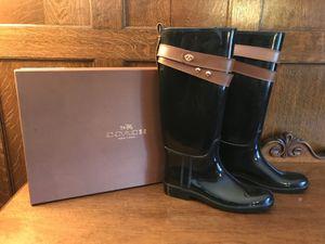 Coach Talia Shiny Rain Boots New in Box Never Worn Size 10 for Sale in Spokane, WA