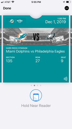 Eagles vs dophins dec 1 for Sale in Lauderhill, FL