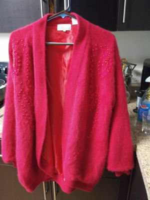 Sweater, pink casmere, beaded, size Small. Very nice , brand name is Baluchi. for Sale in Lake View Terrace, CA