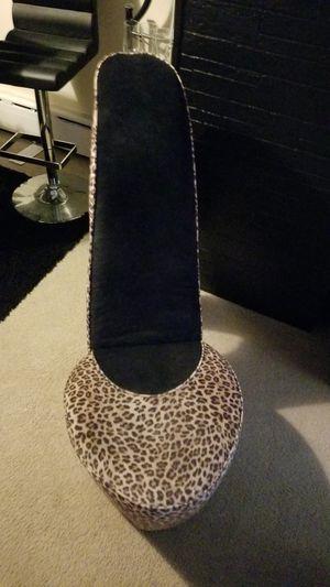 High heel shoe chair leopard print for Sale in Philadelphia, PA