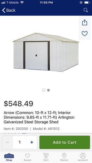 10x12 shed brand new for Sale in Nashville, TN