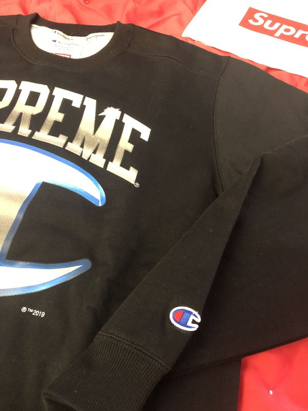 Supreme®/Champion® Chrome Crewneck Dark Teal Size Medium