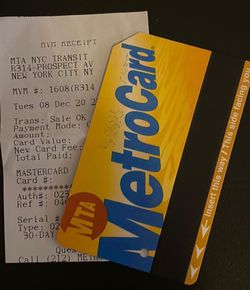 Unlimited Monthly Metro Card for Sale in The Bronx,  NY
