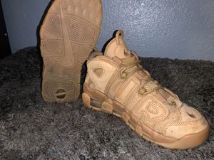 Wheat Uptempos Size 5Y for Sale in Tampa, FL