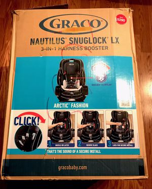 Graco Nautilus SnugLock LX 3-in-1 Harness Booster Car Seat for Sale in Beaverton, OR