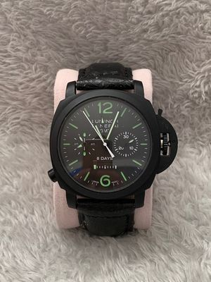Watch - Brand New Men's Wrist Watch - Black Dial - Black LeatherStrap - Automatic Watch for Sale in Chicago, IL