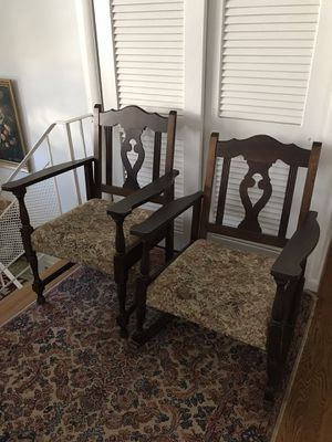 Set of Two Antique Chairs (one rocker) for Sale in Rockville, MD