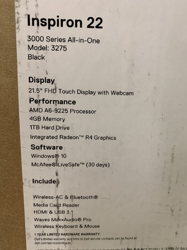 Dell Inspiron {contact info removed} Series All-in-1 $650