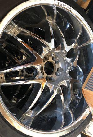 "Universal 22"" chrome rims for Sale in Joliet, IL"