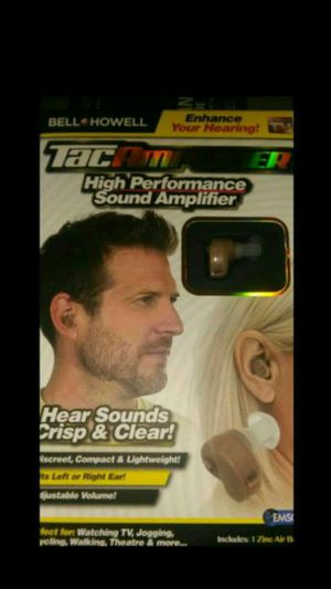 TAC AMPLIFIER HIGH PERFORMANCE EAR PIECE NEW NEVER USED for Sale in Columbus, OH