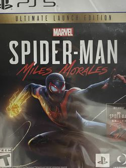 PS5 Spiderman Miles Morales Ultimate launch edition for Sale in Round Rock,  TX