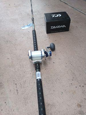 New saltiga 50LD fishing reel with Okuma Makaira rod for Sale in Pembroke Pines, FL