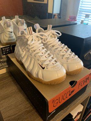"""Gucci Foamposite Pro """"White"""" size 8.5 for Sale in Burleson, TX"""