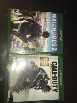 Watch dogs 2 and call of duty advanced warfare for Sale in Clifton Heights, PA