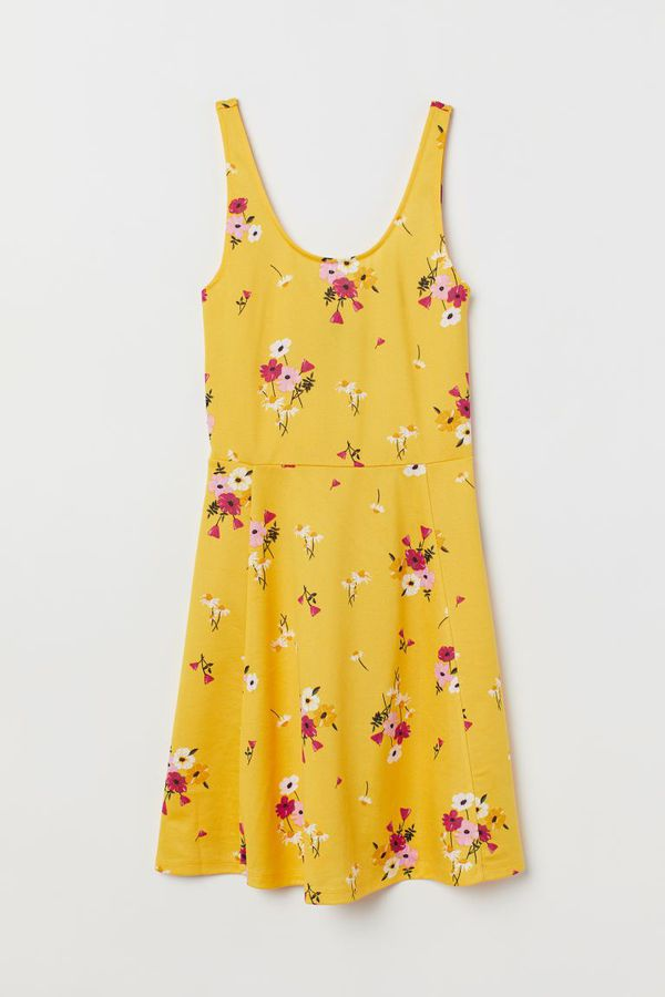 H&M yellow flower dress