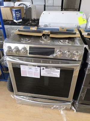 Brand new stainless steel slide-in gas stove for Sale in Houston, TX