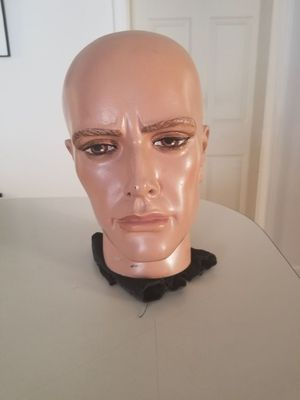 Mannequin head male. Has a brass metal pin on the bottom that connects to a mannequin body for Sale in Nashville, TN