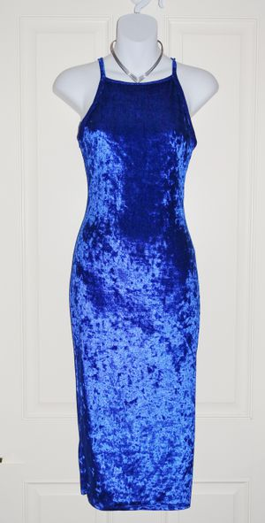 (FREE DELIVERY) *new* royal blue velvet sleeveless bodycon dress (size S) for Sale in North Las Vegas, NV