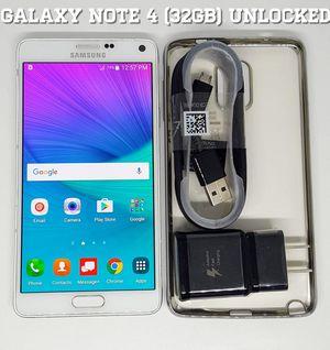 Galaxy Note 4 (32GB) GSM-UNLOCKED + Accessories for Sale in Arlington, VA