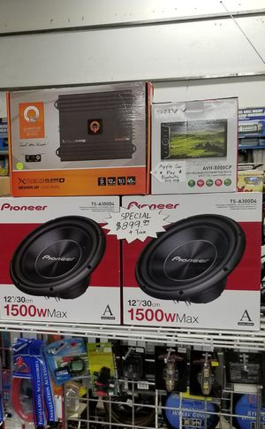 Pioneer Subwoofer system & Double-din stereo w/ Apple Car Play for Sale in Las Vegas, NV