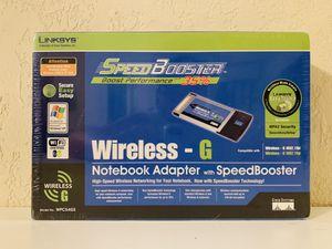 Linksys Wireless-G Notebook Adapter with SpeedBooster for Sale in Boynton Beach, FL