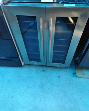 Stainless steel side by side door wine cooler.dual cooling system wooden racks for Sale in Los Angeles, CA