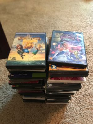 60 dvd movies. All appropriate mix of kids and family movies for Sale in St. Louis, MO