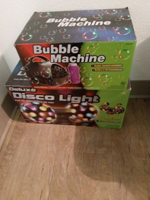 Bubble & disco mechine for Sale in Houston, TX