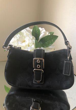 Coach Purse- small- black cotton fabric for Sale in Phoenix, AZ