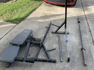 Bench Press - Weight Set for Sale in Katy, TX