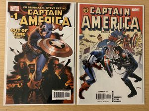 Marvel Comics Captain America 1 and 14 first cameo appearance and origin of the Winter Soldier for Sale in Seattle, WA
