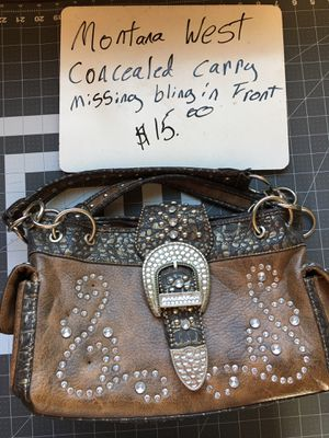 Montana west cc purse missing bling on front for Sale in Show Low, AZ