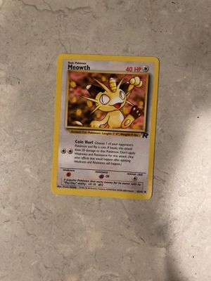 1995 1st edition team rocket Meowth (mint) for Sale in Fircrest, WA