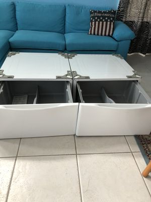 Washer & Dryer Pedestals.Fits LG and other Washers /Dryers. 27 x 25.5 for Sale in Winter Garden, FL