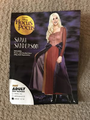 Sarah Sanderson costume, adult size LG for Sale in San Dimas, CA