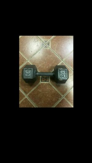 30 LB Dumbbell Weight / Used For CrossFit / Home Gym / Weightlifting for Sale in Pompano Beach, FL