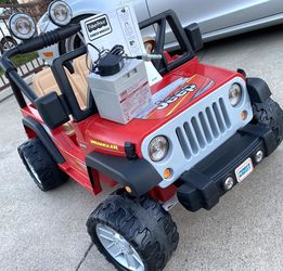 Red Jeep Wrangler 12volt Electric Kid Ride On Car Power Wheels for Sale in Anaheim,  CA