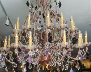 Beautiful big chandelier with murano crystals for Sale in Miami, FL