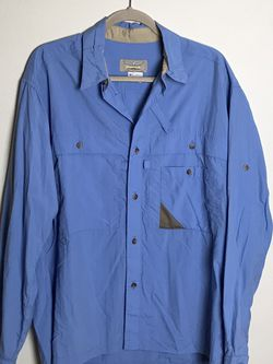 fenwick Mens vented PFG fishing Button up shirt Size M Gently used for Sale in French Creek,  WV