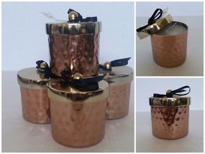 """Three (3) Copper Hammered Jar Candles (Scented), 4"""" Tall, 3 1/4"""" Dia. - BRAND NEW WITH TAGS. All for $8 👉See my other offers👈 for Sale in Stockton, CA"""