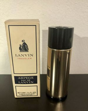 Vintage NEW Lanvin Traveler Arpege Eau De Lanvin 1 1/3 fl oz Gold Tone for Sale in Brooklyn, NY