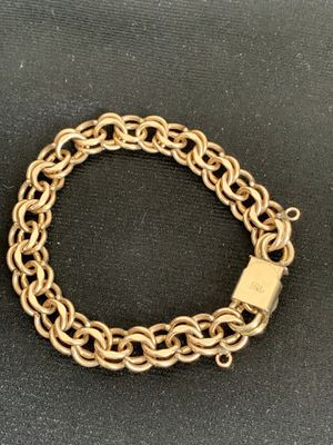 """BEAUTIFUL VINTAGE AUTHENTIC ELCO SIGNED 12K 1/20 GF WIDE DOUBLE LOOP CHARM BRACELET 7"""" for Sale in Mountain View, CA"""