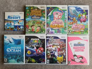 8 Nintendo Wii games Super Mario, Kirby's etc... for Sale in San Francisco, CA
