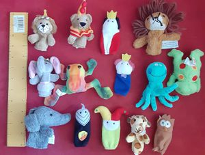 Baby toys baby finger plushies animals $13 for Sale in Lawndale, CA