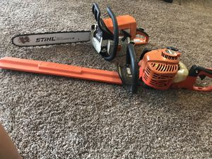 Stihl Chainsaw and edge trimmer great condition for Sale in San Antonio, TX