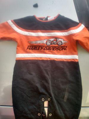 Harley davidson boys onesie 3_6 months for Sale in Cleveland, TN