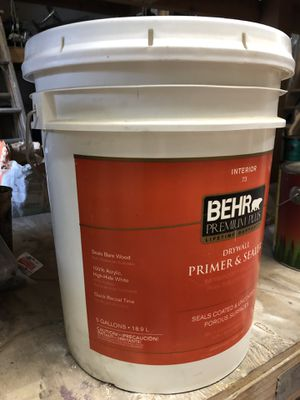 Bear primer sealer new unopened containers $7.00 per gallon for Sale in Carlsbad, CA