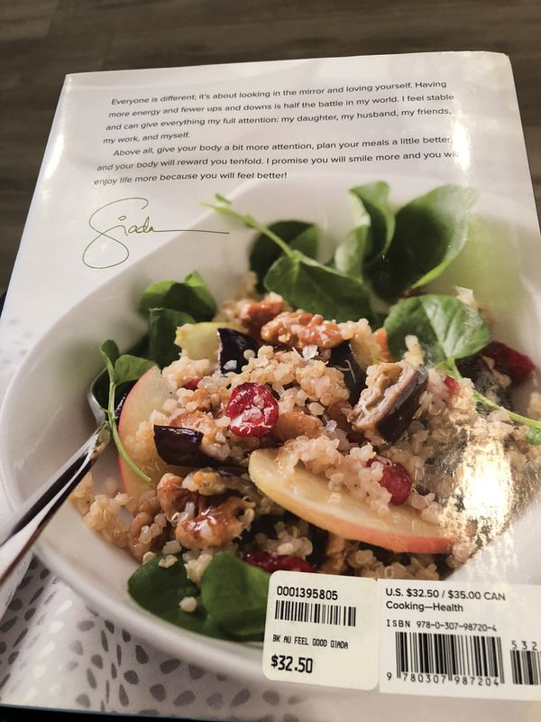NEW - never used. Giana's Feel Good Food Cookbook