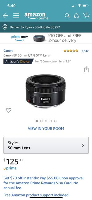 Various canon lenses for Sale in Wheeling, IL