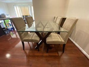 Pier 1 kitchen table with 6 chairs for Sale in Elkridge, MD
